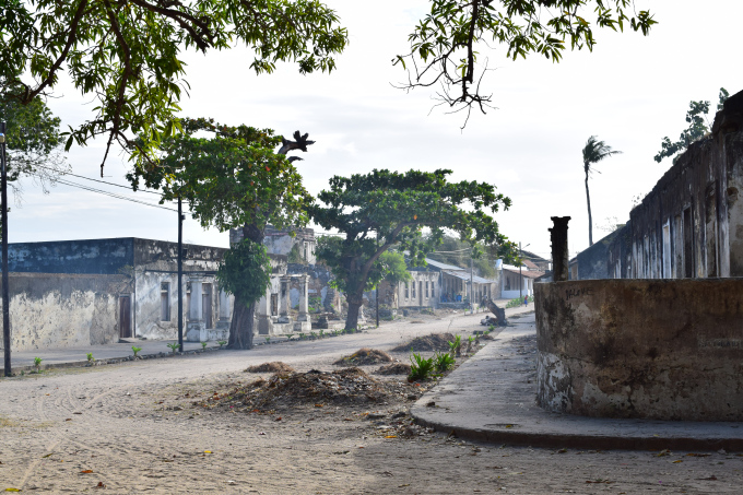 The main street of the old town.
